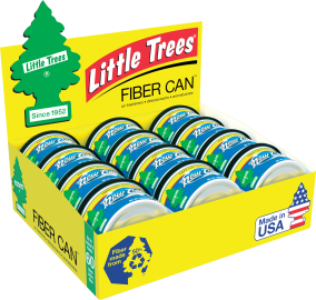 Little Tree Fiber Can: New Car Scent - Pack of 12
