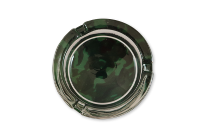 Camo Glass Ashtray: Black & Green - Pack of 1