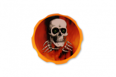 Grinders 4P Acrylic Design: Orange Skull - Pack of 1