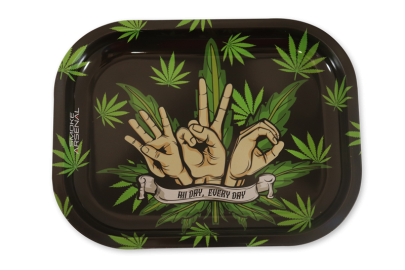 Small Rolling Tray: Leaf 420 - Pack of 1