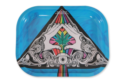 Small Rolling Tray: Leaf Triangle - Pack of 1