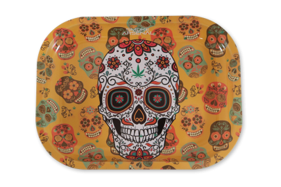 Small Rolling Tray: Floral Skull - Pack of 1
