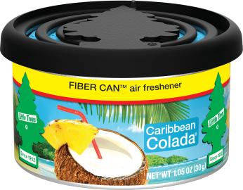 Little Tree Fiber Can: Caribbean Colada - Pack of 4