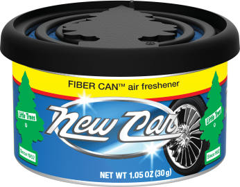 Little Tree Fiber Can: New Car Scent - Pack of 4